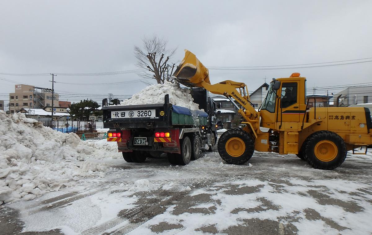 ザ・マークス南通 新築分譲マンション施工レポート 除雪排雪状況