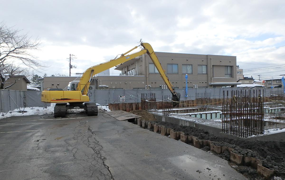 ザ・マークス南通 新築分譲マンション施工レポート 埋め戻し状況