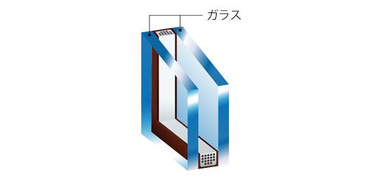 断熱性の高い複層ガラス
